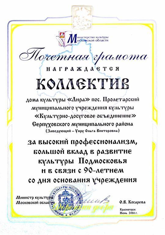 Поздравления с юбилеем дома культуры от директора 72